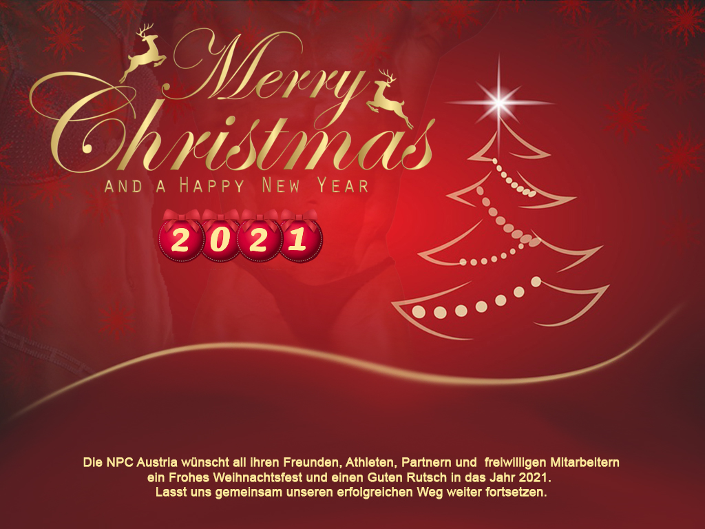 Fröhliche Weihnachten und einen guten Rutsch in das Jahr 2021