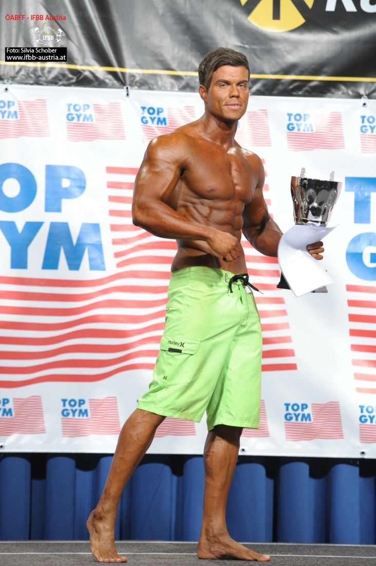 Christoph Friedl AUT Overall winner Mens Physique
